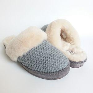 UGG   Gray Open Back Wool Slippers NWOB